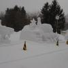 2月7日(日曜日)雪像の様子