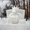 絆(きずな)2012年の雪像完成!